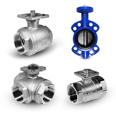 Válvulas com base de montagem para atuadores