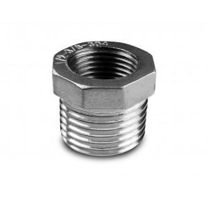 Redução em aço inoxidável 3/8 - 1/4 de polegada