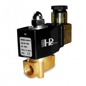 Válvula solenóide 2N08 1/4 230V ou 24V, 12V Viton - resistente a produtos químicos