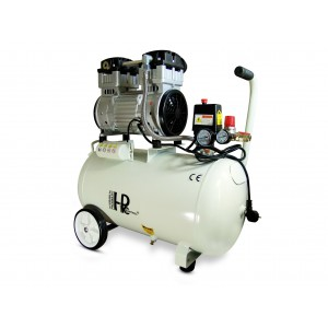 Compressor silencioso sem óleo 1100W 50l
