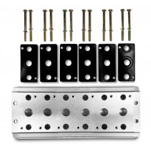 Placa coletora para conectar 6 válvulas 1/4 série 4V2 Terminal de válvula de grupo 4A 5/2 5/3