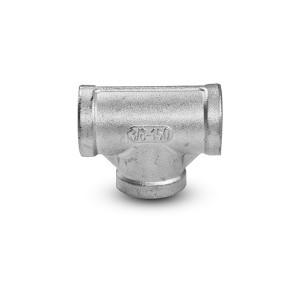 Rosca interna de aço inoxidável em T 3 x 1/2 polegada