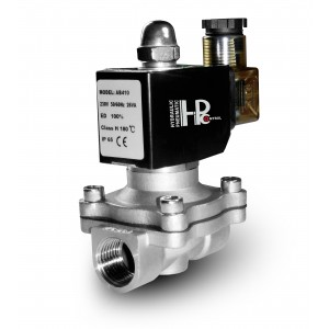Válvula solenóide 2N25 1 polegada SS304 aço inoxidável Viton