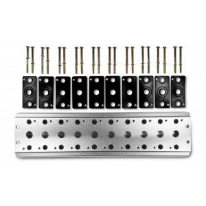 Placa coletora para conectar 10 válvulas 1/4 série 4V2 Terminal de válvula de grupo 4A 5/2 5/3