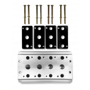 Placa coletora para conectar 4 válvulas série 4V2 4A terminal de válvula de grupo 5/2 5/3