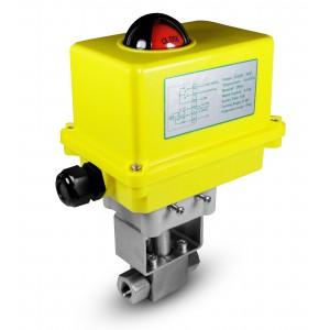 Válvula de esfera de alta pressão 1/4 de polegada SS304 HB22 com atuador elétrico A250