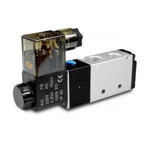 Válvula solenóide 5/2 4V410 1/2 polegada para cilindros pneumáticos 230V ou 12V, 24V