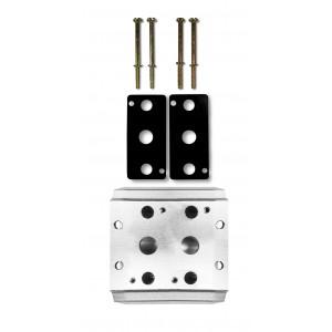 Placa coletora para conectar 2 válvulas 1/4 série 4V2 Terminal de válvula de grupo 4A 5/2 5/3