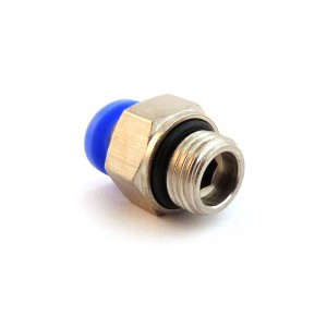 Mangueira reta de mamilo de 10 mm com rosca 3/8 de polegada PC10-G03