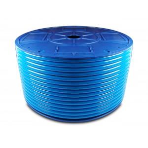 Mangueira pneumática de poliuretano PU 6/4 mm 200m azul
