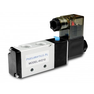 Válvula solenóide para cilindros pneumáticos 4V210 5/2 1/4 230V 12V 24V