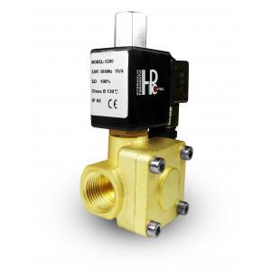 A válvula solenóide 2K25 abre NO 1 polegada 230V ou 12V 24V
