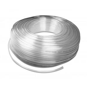 Mangueira pneumática de poliuretano PU 6/4 mm 1m transp.