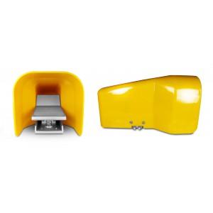 Válvula de pé, pedal pneumático 5/2 1/4 para cilindro 4F210LG - biestável com tampa