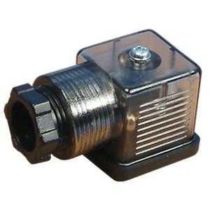 Conector à válvula solenoide 18mm DIN 43650 com LED