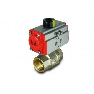 Válvula de esfera de latão 1 1/2 polegada DN40 com atuador pneumático AT52