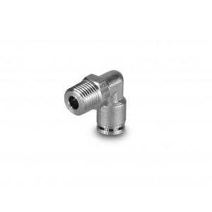 Mangueira de aço inoxidável com mamilo angular de 10 mm rosca de 1/4 de polegada PLSW10-G02