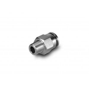 Mangueira de mamilo em aço inoxidável reto 8mm rosca 1/8 de polegada PCSW08-G01