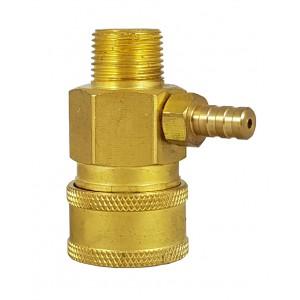 Conector rápido de alta pressão de 3/8 de polegada com injetor de sucção química