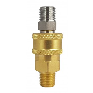 Conector rápido de alta pressão com rosca externa de 1/4 polegada