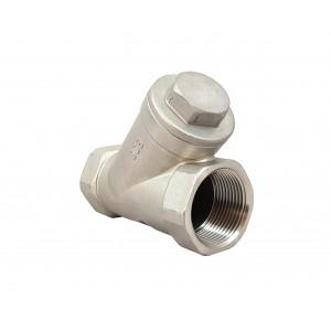 Válvula de retenção Y tipo DN40 1 1/2 polegada - aço inoxidável SS316