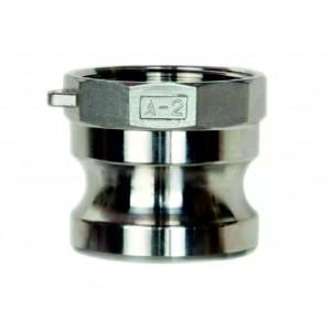 Conector Camlock - tipo A 3/4 polegadas DN20 SS316