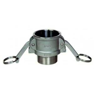 Conector Camlock - tipo B 1/2 polegada DN15 SS316