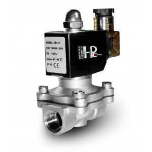 Válvula solenóide 2N15 1/2 polegada SS304 de aço inoxidável Viton