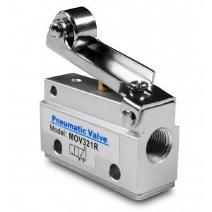Válvula manual 3/2 MOV321R Atuadores de 1/8 de polegada
