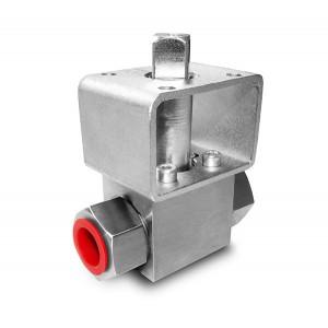 Válvula de esfera de alta pressão 1/4 de polegada SS304 HB22 placa de montagem ISO5211