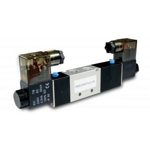 Válvula solenóide 5/3 4V430C 1/2 polegada para atuadores pneumáticos 230V ou 12V, 24V