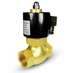 Válvula solenóide para vapor e alta temperatura. 2L20 3/4 de polegada180 ° C