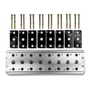 Placa coletora para conectar 8 válvulas 1/4 série 4V2 Terminal de válvula de grupo 4A 5/2 5/3