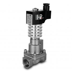 Válvula solenóide para vapor e alta temperatura. RHT15-SS DN15 300C 1/2 polegada