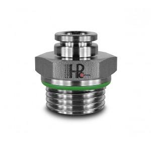 Mangueira de mamilo em aço inoxidável reto 8mm rosca 1/2 polegada PCS08-G04
