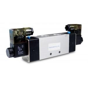 Válvula solenóide 4V220 5/2 1/4 de polegada para cilindros pneumáticos 230V ou 12V, 24V