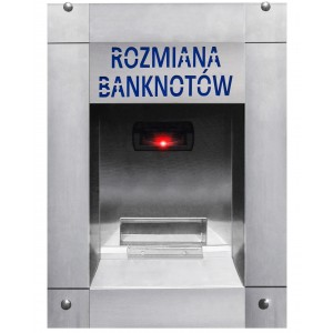 Trocador de dinheiro de notas para moedas