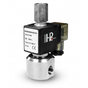 Válvula solenóide de 3 vias RM23-02 3 x 1/4 de polegada