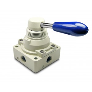 Válvula manual 4/3 4HV230-08 Atuadores de 1/4 de polegada
