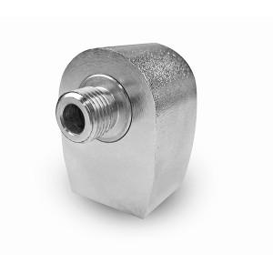 Conector rotativo angular para prato giratório de lavagem de carro de 1/4 de polegada