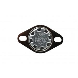 Termostato bimetálico, sensor de temperatura NC 5 ℃ 10A 230VAC tipo KSD301