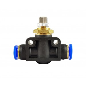 Regulador de fluxo de precisão válvula de estrangulamento mangueira 12mm LSA12