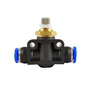 Regulador de fluxo de precisão válvula de estrangulamento mangueira 6mm LSA06