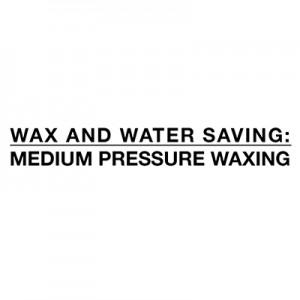 Economizando água e cera - encerando pressão média