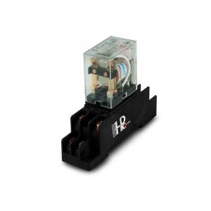 Relé 10A 2x NA / NF com base para montagem em trilho de fixação