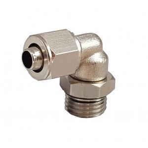 Conexões rápidas para tubo 6/4 com cotovelo de rosca 1/8 de polegada RPL 6/4-G01