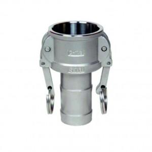 Conector Camlock - tipo C 1/2 polegada DN15 SS316
